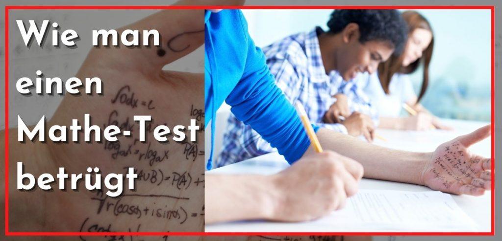 wie man einen mathe test betrugt
